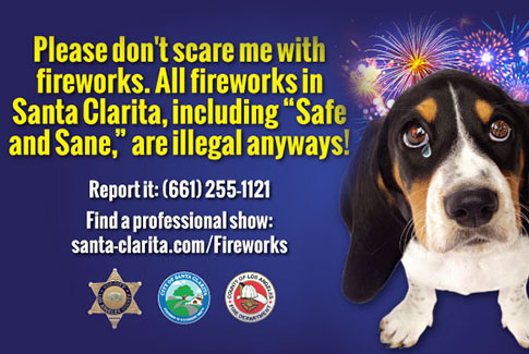 Fireworks are Illegal in Santa Clarita and Scare Puppys