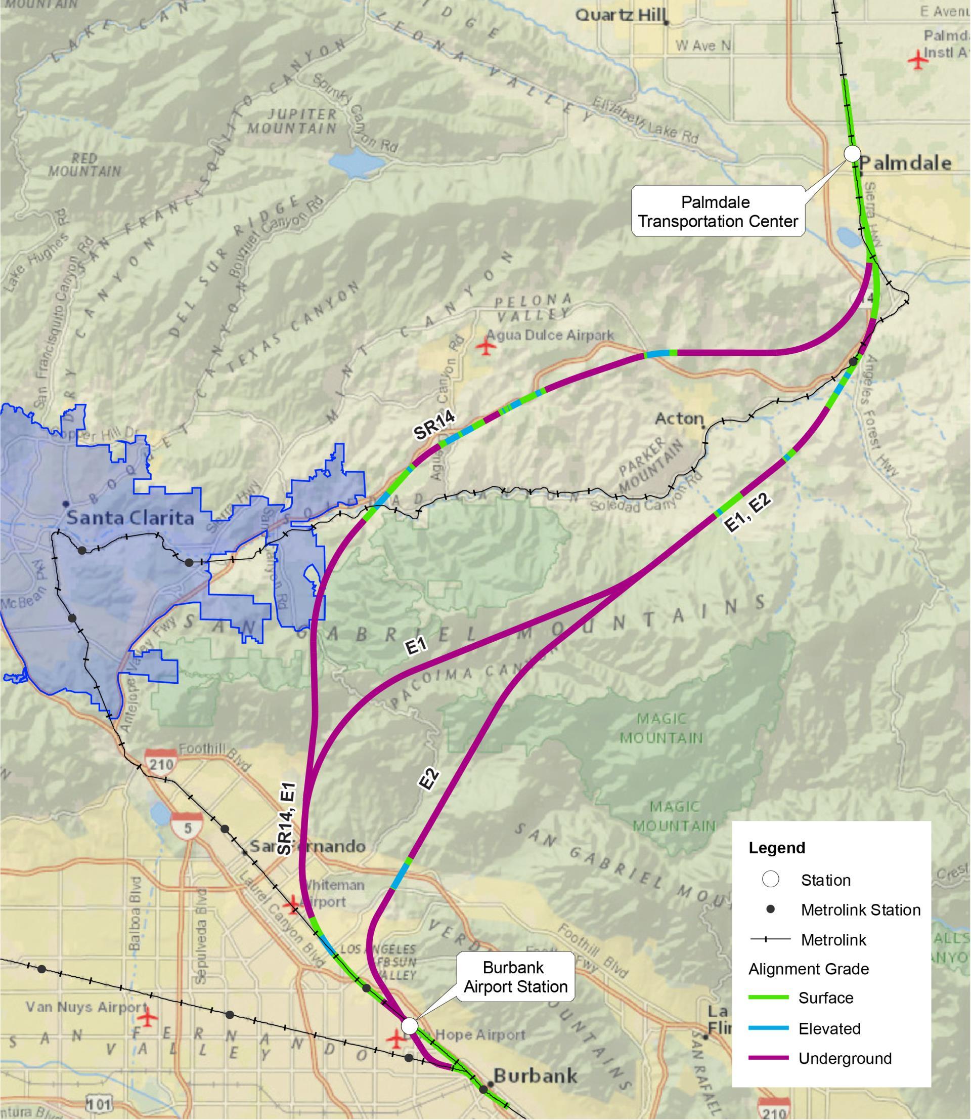 California HighSpeed Rail City Of Santa Clarita CA - High speed rail us map
