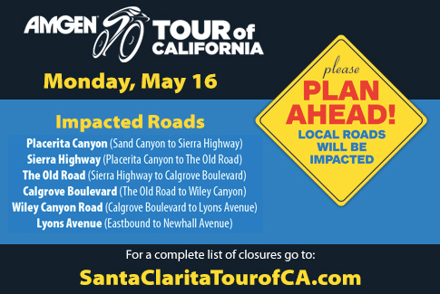 Amgen Tour of California Road Closure Information