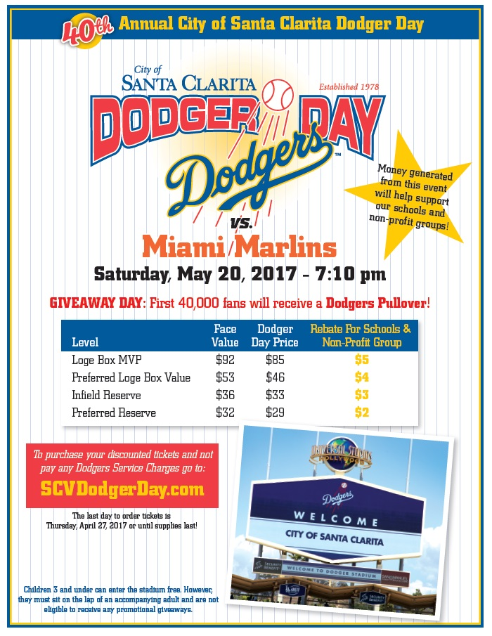 Dodger Day Order Form