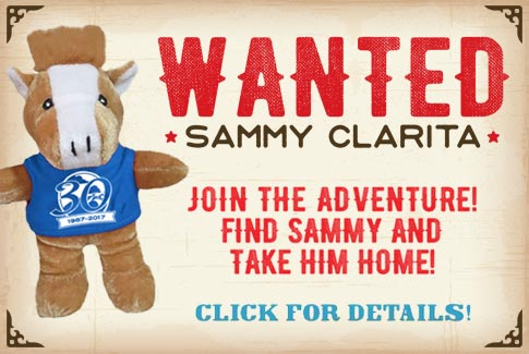 WANTED: Sammy Clarita.  Join the adventure!  Find Sammy and take him home!  Click for details.