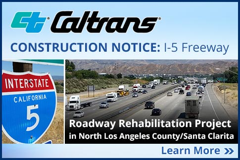 Construction Notice - I-5 Freeway - Click for Details.