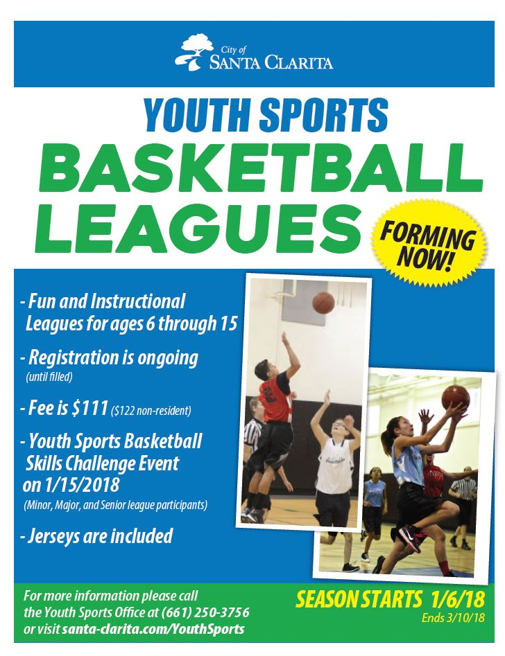 2018 Winter Basketball League Ad