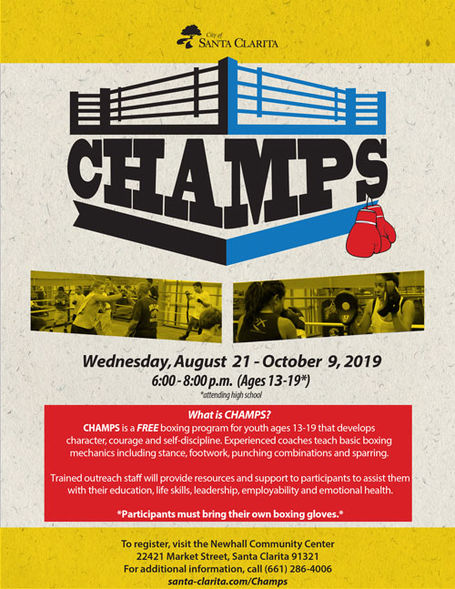 Champs Program Flyer