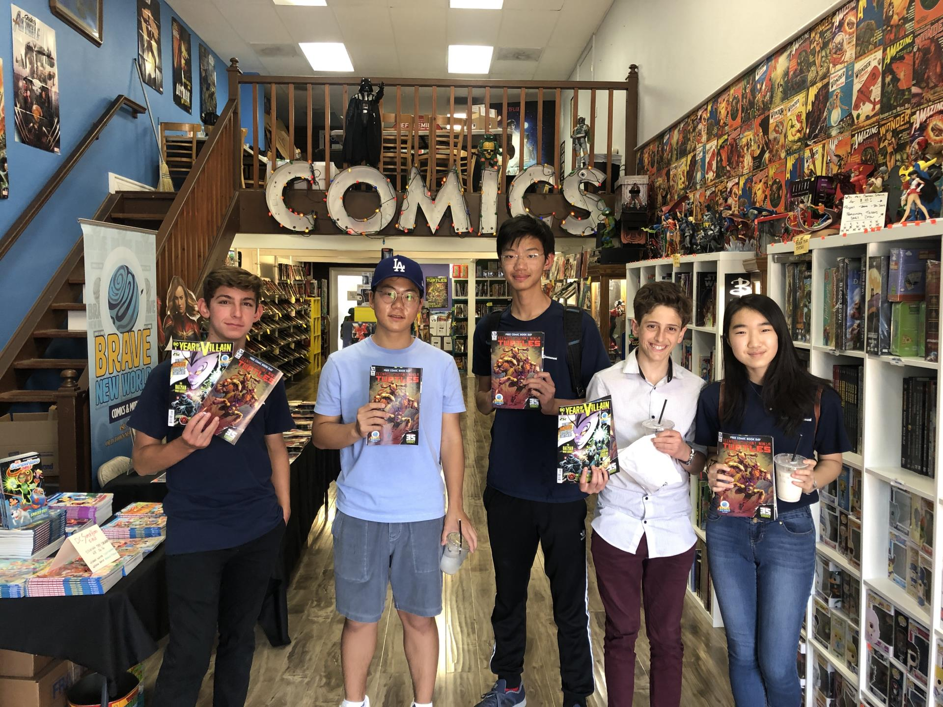 group at comic store
