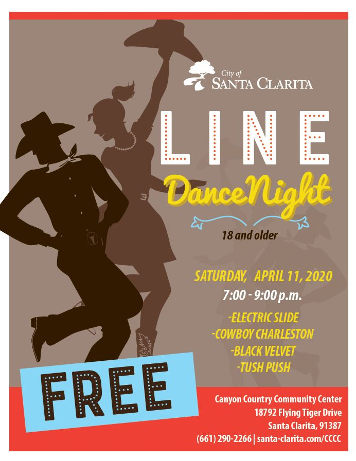 Line dance event at Community Center