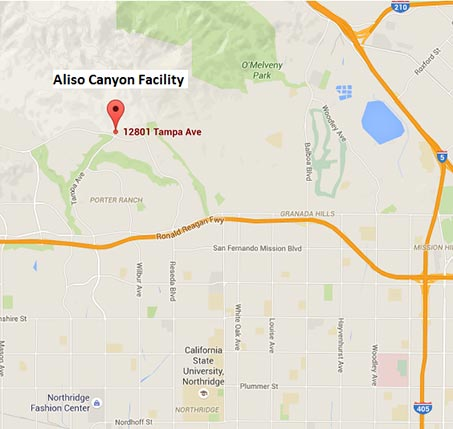Aliso Canyon - Google maps
